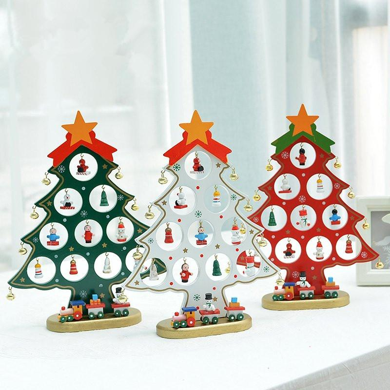Wholesale XMAS Gift Mini Table XMAS Trees Decoration Wood Christmas Tree  With Ornament For X'Mas, More Than $100 TNT Cheap Christmas Outdoor  Decorations ... - Wholesale XMAS Gift Mini Table XMAS Trees Decoration Wood Christmas