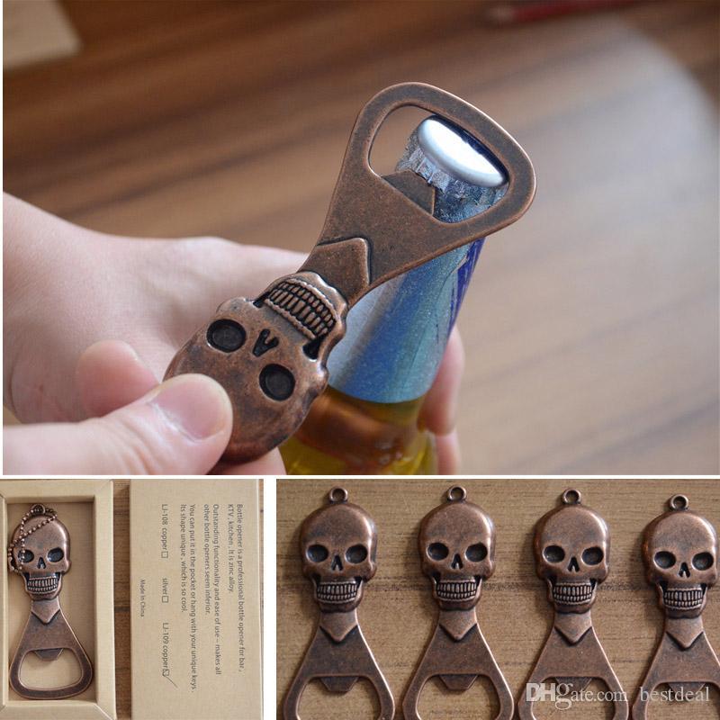 Gotycka fantazja makabryczna otwieracz do butelek czaszki Day of the Dead Cap Lipter Piwa Soda Połączona