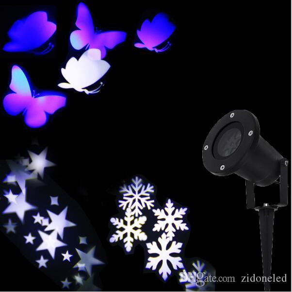 2016 new Christmas Lights Outdoor LED Snowflake Projector Light Star Projector Batterfly Light Waterproof Snow Laser Christmas Lights