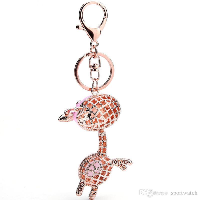 도매 남성과 여성 유니버설 자동차 Keychains 고양이 눈 동물 동키 키홀더 열쇠 고리 펜던트 무료 배송