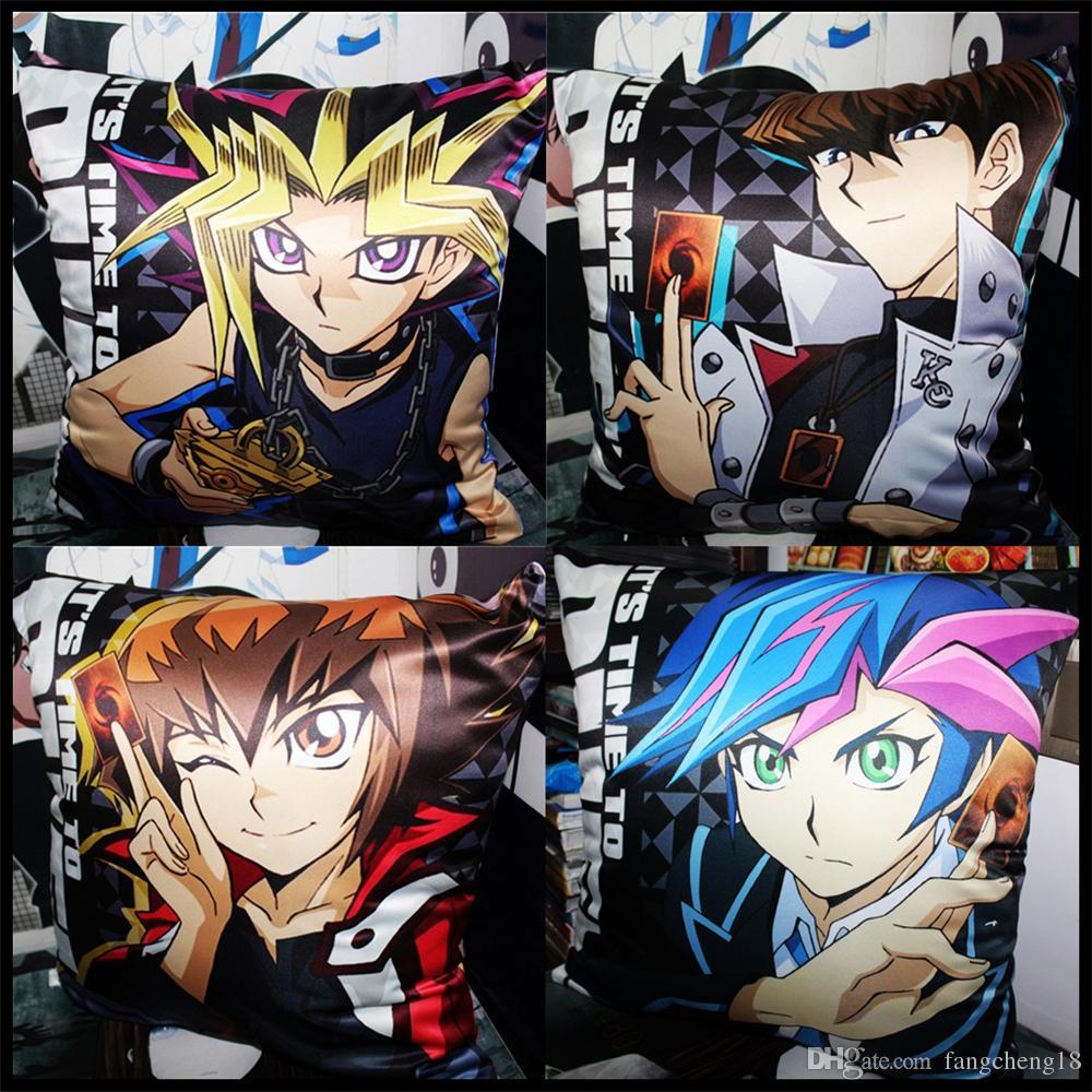 2018 Anime/Yu Gi Oh! Muto Yugi/Seto Kaiba/Yusei Fudo/Jaden Yuki/Yuma  Tsukumo/Yuya Sakaki/Yusaku Fujiki Soft And Comfortable Cushion/Pillow From  Fangcheng18, ...