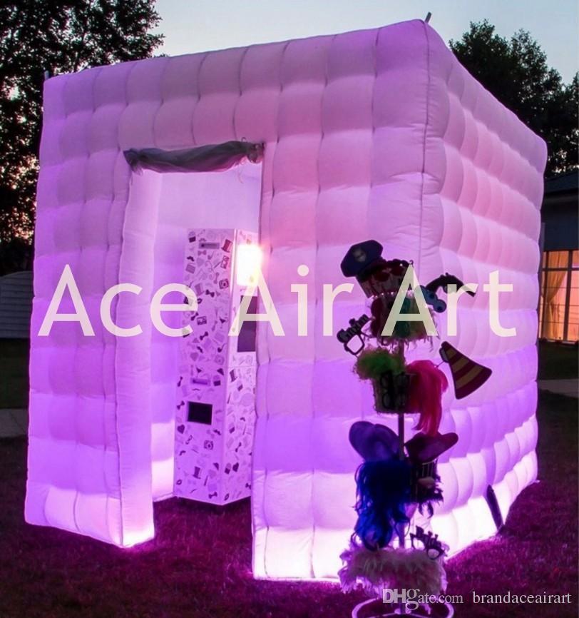 puntelli gonfiabili della cabina della foto del cubo all'aperto di Oxford del quadrato, tenda del cubo affitto all'aperto