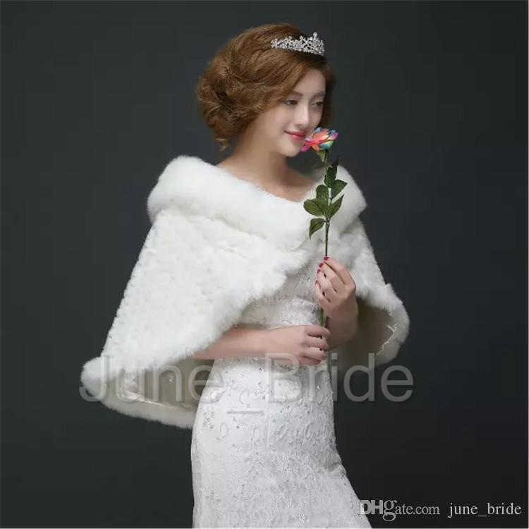 Winter Wedding Wrap New Style Faux Fur Bridal Wrap Dress Jacket Shawl Marriage Shrug Coat Party Boleros High Quality In Stock