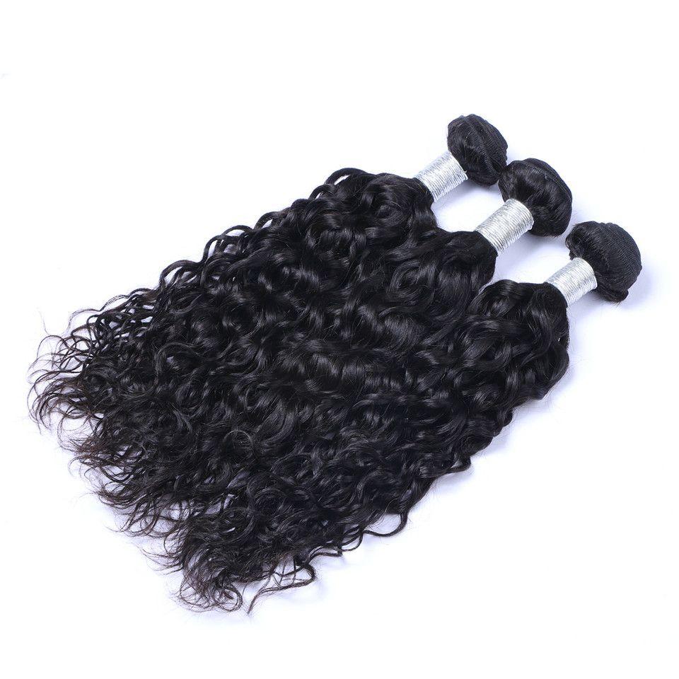 Unprocessed Brazilian Human Remy Virgin Hair Natural Wave Hair Weaves Hair Extensions Natural Color 100g/bundle Double Wefts 3Bundles