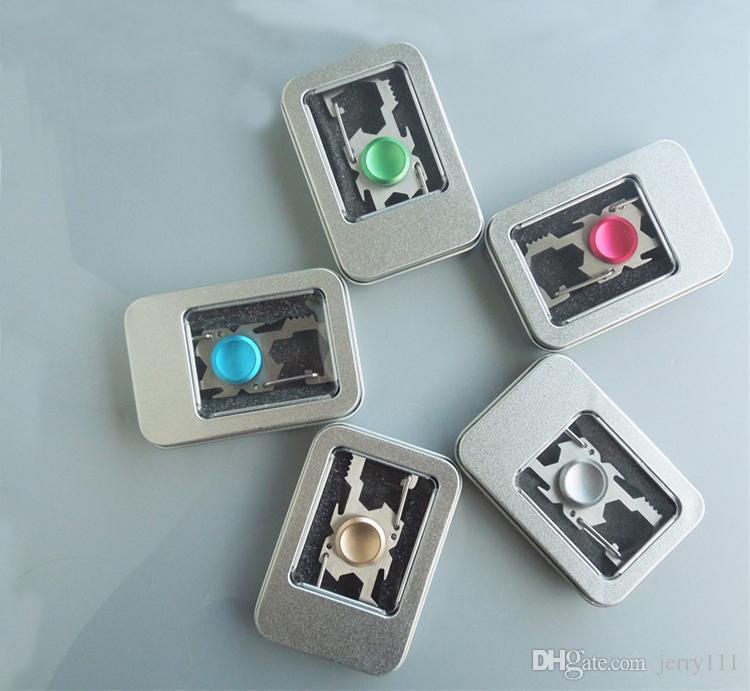 Multifunctional Fidget Spinner Metal Hand Spinner Fingertips Spiral EDC Gyro Toys Stainless steel Pocket Tools Fashion Keychains LA465
