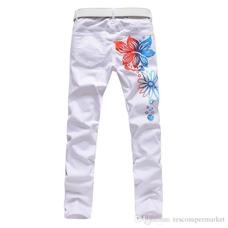 2017 Hot Men'S designers Jeans 3d wolf lim fancy mens jeans Pants Men's Gothic Trousers Male Long Jeans Black Pants