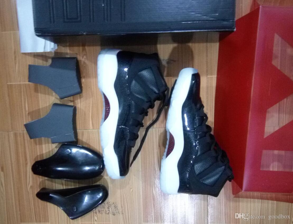 real carbon fiber 72-10 11s XI Black Red White Bred Space Jam Wholesale Basketball Shoes Men With Box