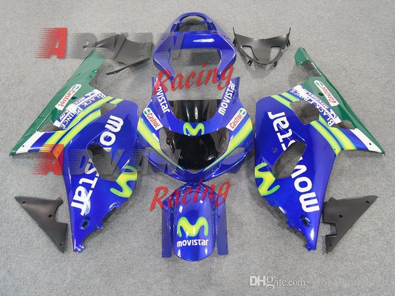 free shipping+8 gifts Blue Color Fairings Details Fit GSXR 600/750 01 03 03 Manual mode 20150148