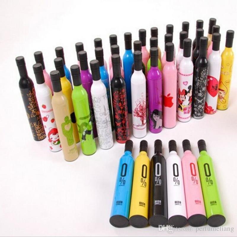 Venta al por mayor Tres botellas de vino tinto paraguas plegable fresco creativo paraguas de botella muchos estilos eligen DHL libre Envío DHL JF-848