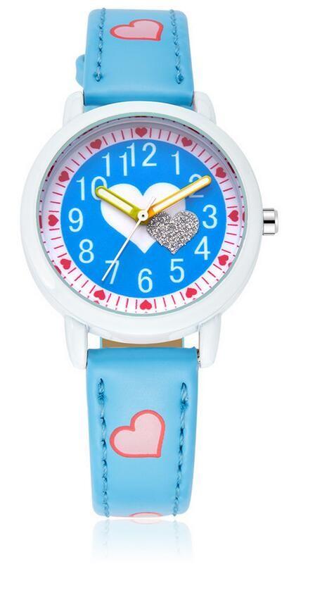 KEZZI 1369 Детские часы Cute Girl Watch 12 Шкала в форме сердца Кварцевые часы Водонепроницаемые зрачки