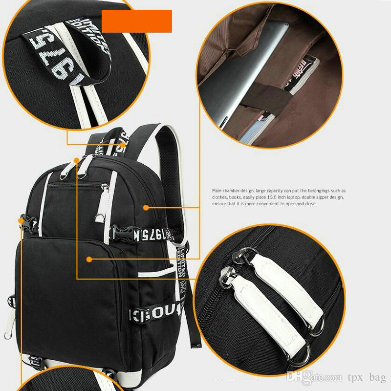 Cult records rucksack Thrashing daypack Black metal schoolbag Music knapsack Laptop backpack Sport school bag Out door day pack