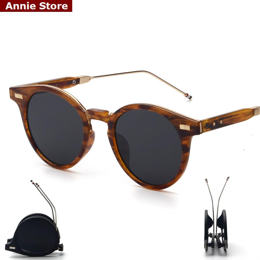 176f124dc8 Wholesale Peekaboo Designer Brand Round Folding Sunglasses Men Brown Mirror  Women Fashion Shades 2016 Foldable High Quality Sonnenbrille Cycling  Sunglasses ...
