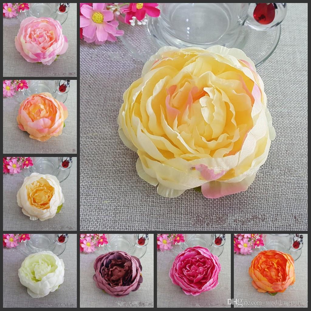 Dia 10cm Artificial Fabric Silk Peony Flower Heads For Diy Home ...