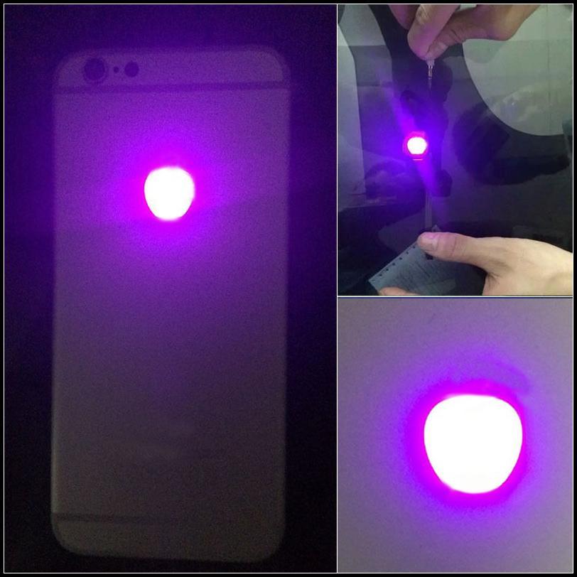IPhone 6 için Artı Feneri Parlayan Logo DIY Lüminesans LED Işık Logo Mod Takımı için iPhone6 Artı Geri Konut