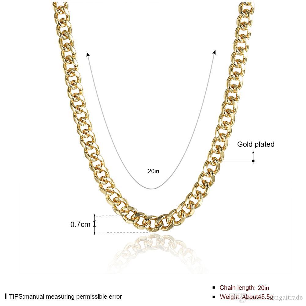 / geben Verschiffen 925 Sterlingsilber überzogene goldene seitliche Halskette LKNSPCN238 frei