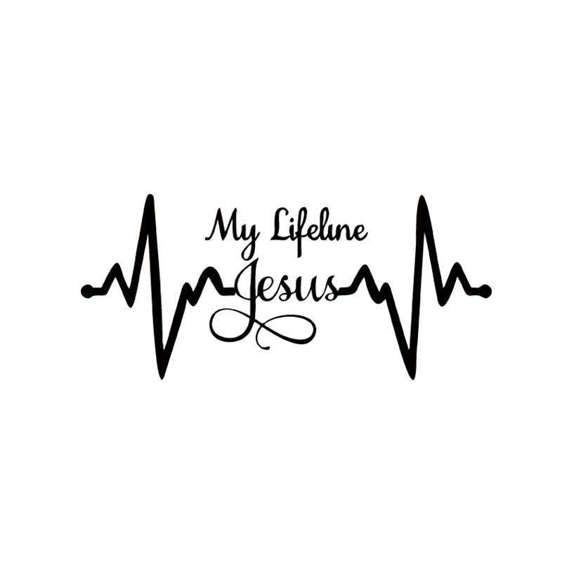 2018 my lifeline jesus decal sticker christian god religious cute car stying jdm from langru1003 1 3 dhgate com