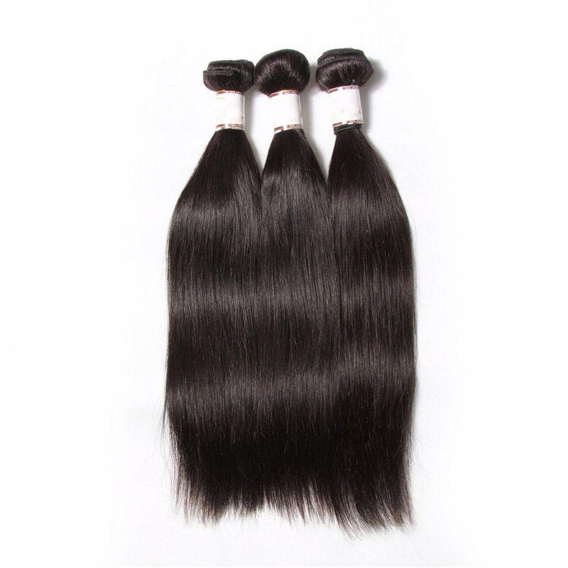 ブラジルのバージンヘアシルキーストレート3ピース100%人間の髪織りの10-30インチ未処理のブラジルのまっすぐな織られた髪の拡張