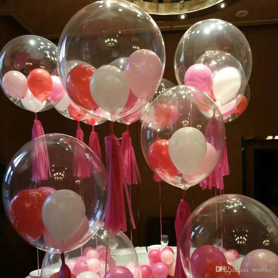 18inch Transparent Pvc Latex Balloons Party Ballons Decoration For ...