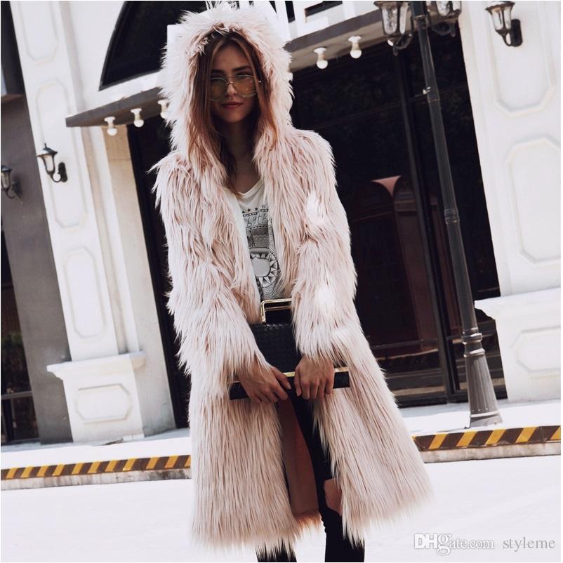 2018 Deluxe Women Long Fox Fur Coats 2017 Autumn Winter Warm ...