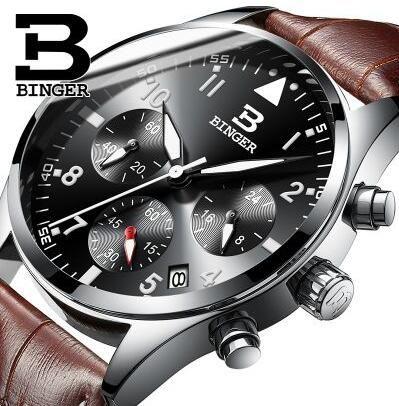 Compre Famosa Marca Suiza Hombres Relojes Deportivos Binger Quartz Reloj De  Pulsera 3atm Impermeable Vestido Al Aire Libre Relojes Hombre Reloj Militar  A ... 700d20fb1737