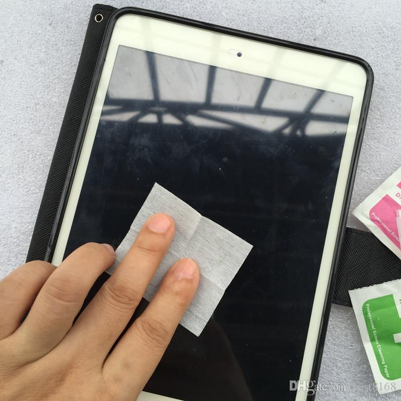 =wet wipes +Dry Wipes For Mobile Phone Cell phone LCD Screen Clear Tempered Glass Protector Film Alcohol Cleaning Cloths