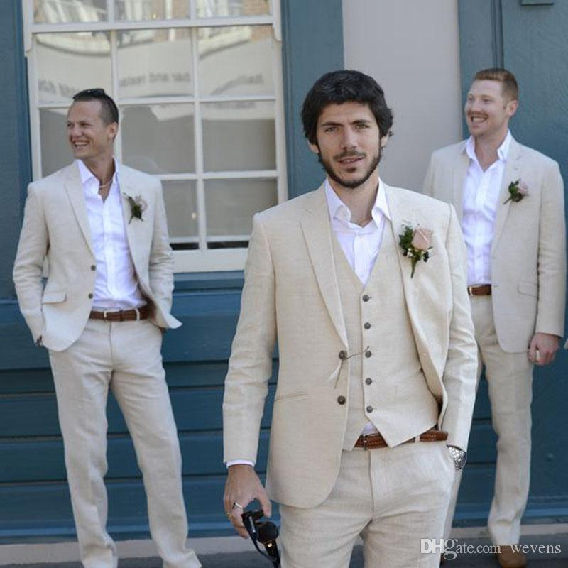 Custom Made Groom Tuxedos Three Piece Suit Best Man Slim Fit Peaked Lapel Wedding Groom (Jacket+Pant+Vest)