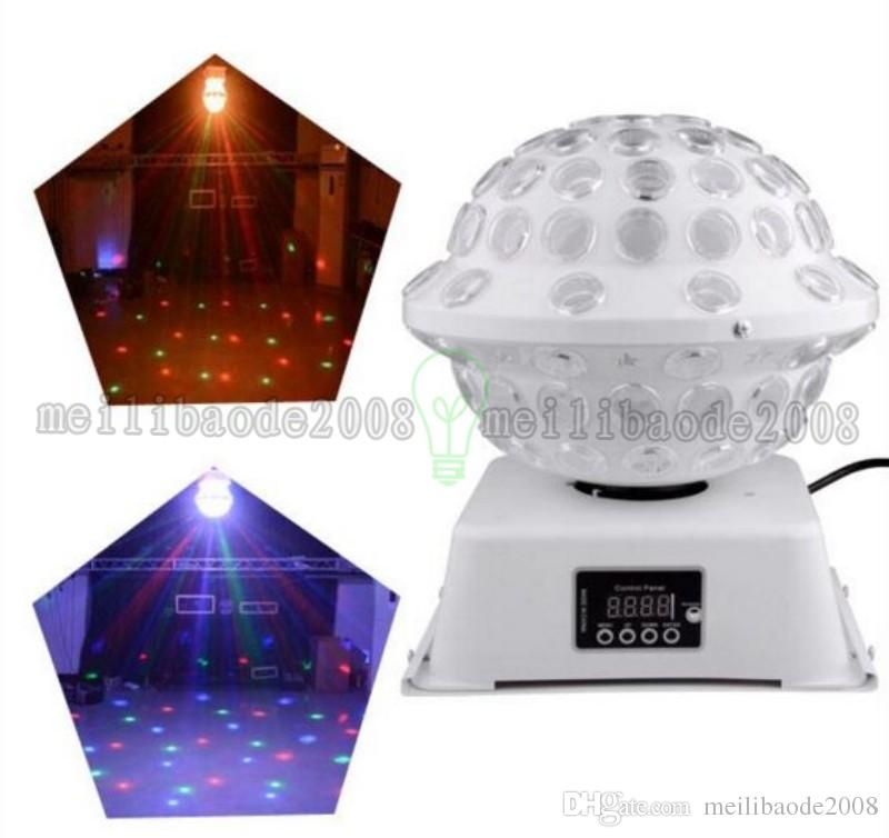 DJ Stage & Studio Special Lighting Effects RGB Color Changing 360 Rotating LED Magic Lights System Equipment Disco Ball MYY