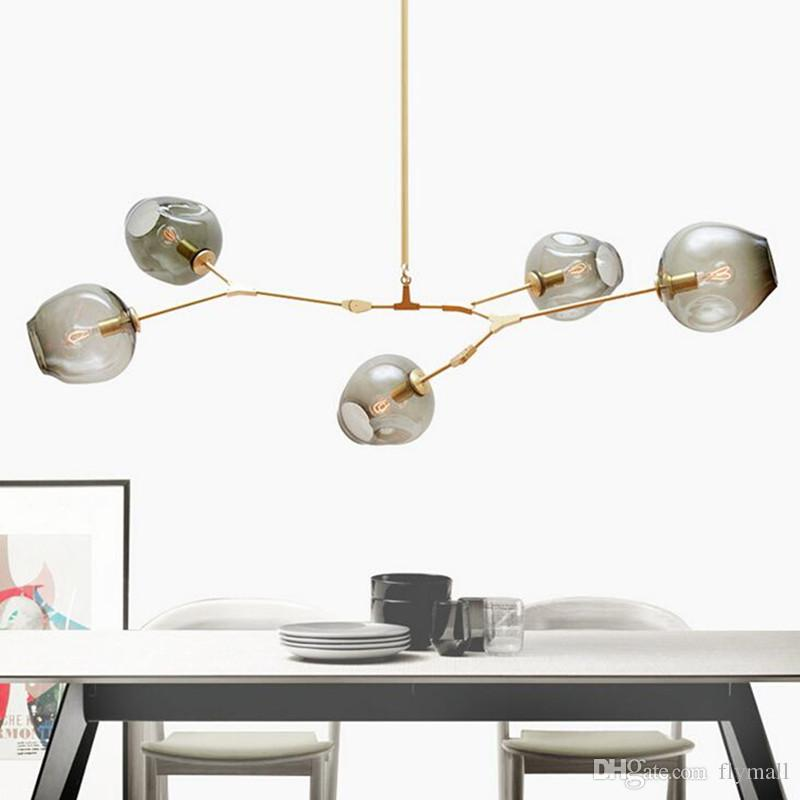Lindsey Adelman Chandeliers Lighting Modern Globe Glass Bubble Pendant Lamp  Natural Tree Branch Suspension Light Hotel Dinning Room Light Lights  Hanging ...