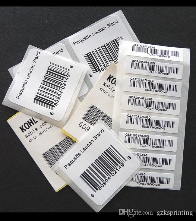 Custom barcode labels upca 12 digits adhesive barcode stickers printing in black semi gloss paper bar code labels on rolls for electronics barcode adhesive