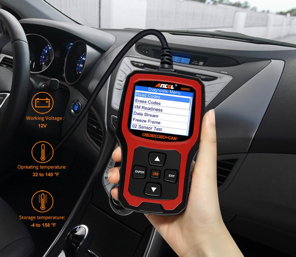 2018 Original Ancel Ad410 Obd2 Scanner Code Reader Car Diagnostic ...