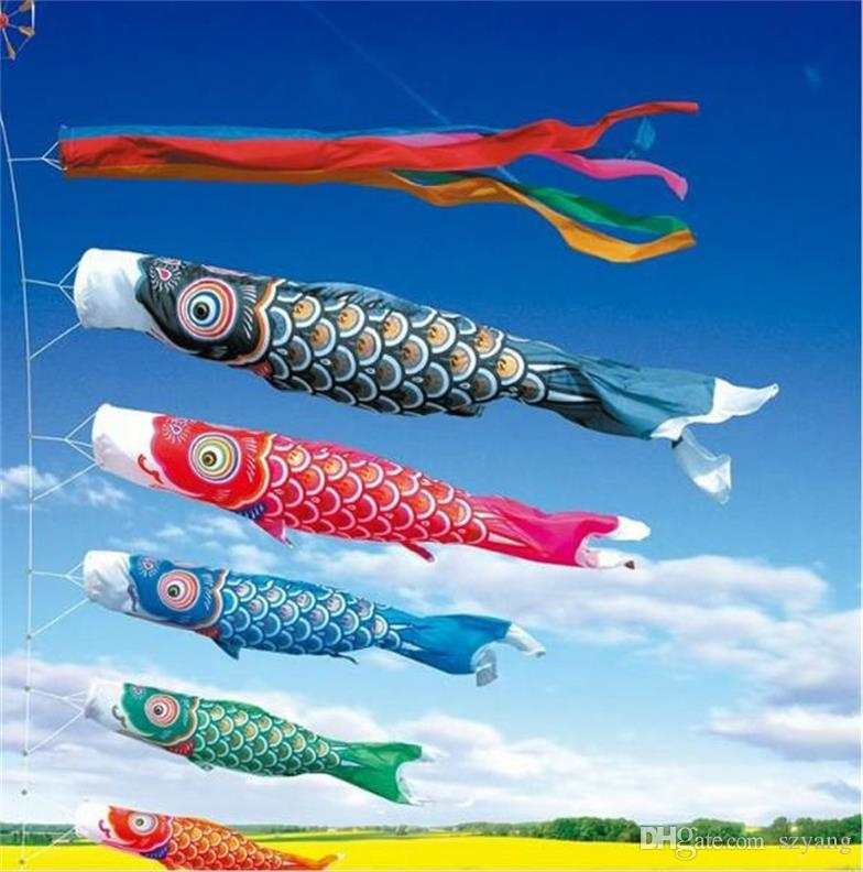 Discount japanese carp windsock streamer fish flag kite for Japanese koi fish wholesale