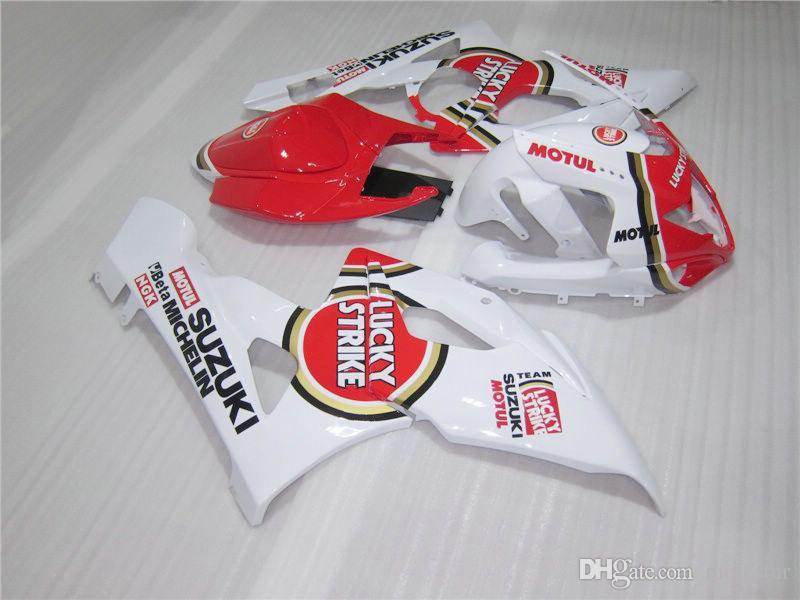 Kit carene vendita calda stampaggio ad iniezione Suzuki GSXR1000 05 carene rosse bianche GSXR1000 2005 2006 OT20