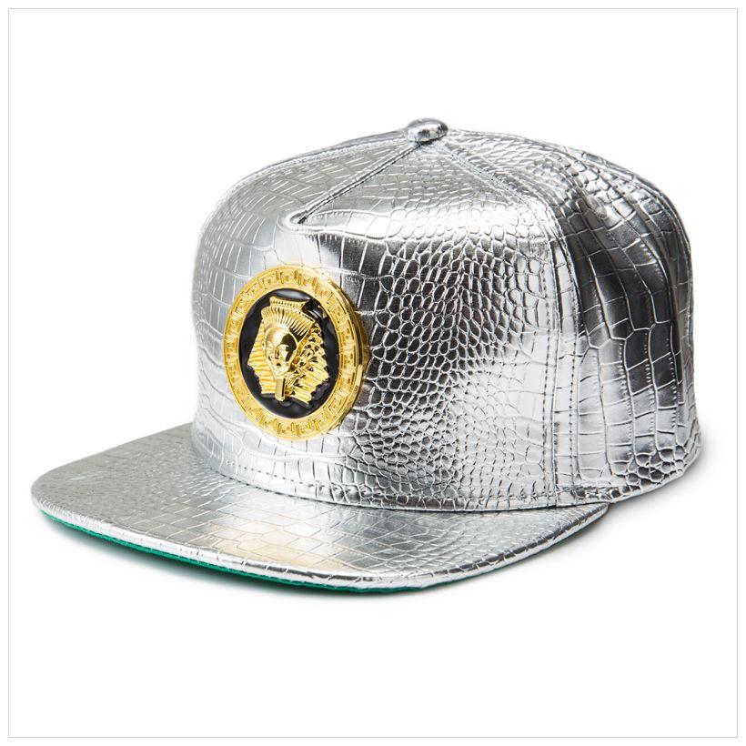 New Gold Egypt Pharaoh Berretto da baseball PU in pelle Hip Hop stile punk piatto Snapback cappello uomo donna Cool Boy Fashion Caps