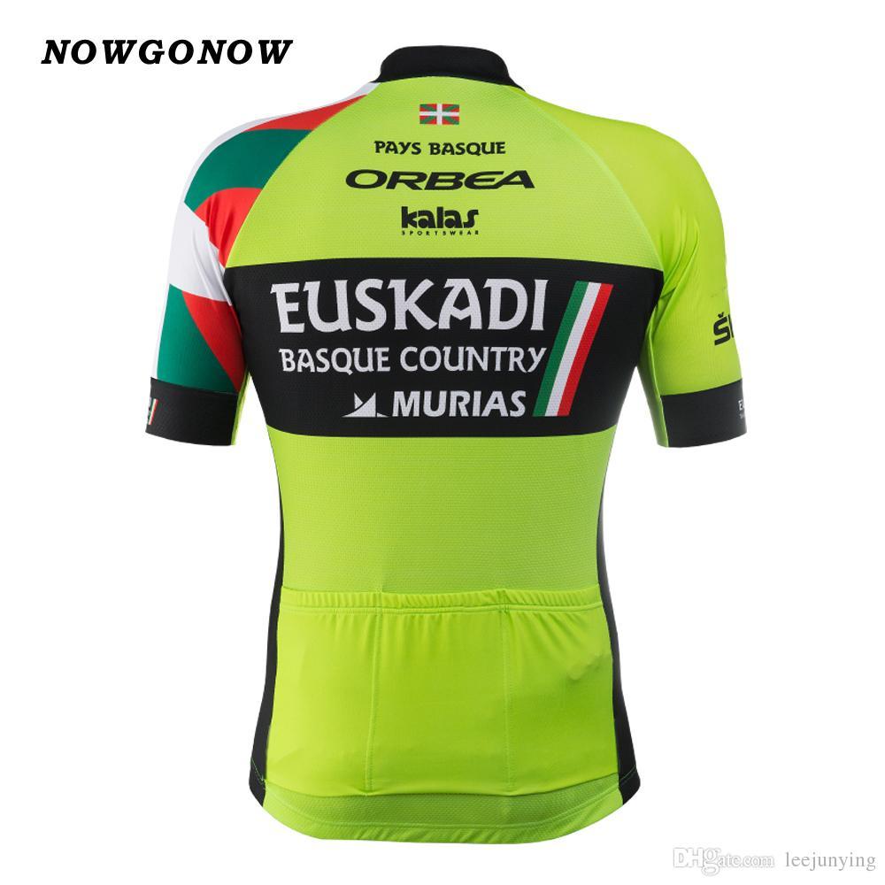 2017 maillot de cyclisme ensemble Euskadi espagne équipe vêtements de vélo porter équipe verte équipe de cyclisme pro équitation vtt vêtements de route NOWGONOW gel pad cuissard maillot