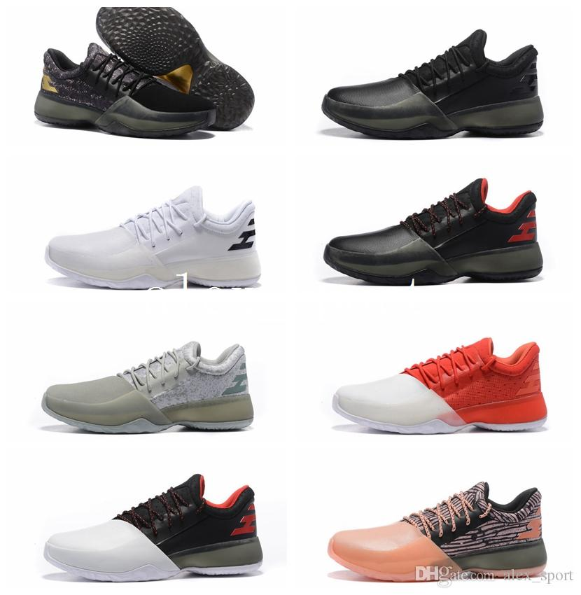 pretty nice 57158 1dadc ... 2017 new harden vol. 1 mens basketball shoes black white orange  wholesale fashion james harden