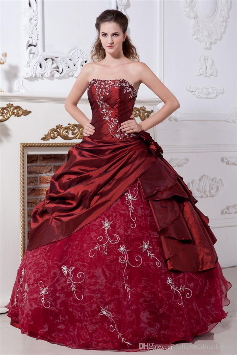 2017 сексуальный элегантный цветок вышивки бальное платье Quinceanera Платья с тафты из органзы плюс размер сладкий 16 платье Vestido Debutante платья BQ67