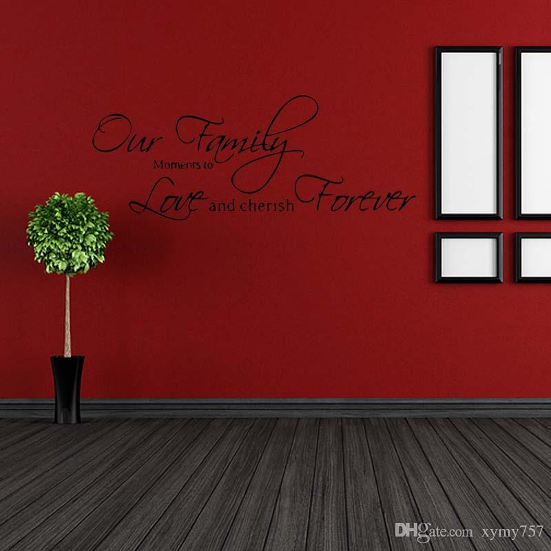 New Product Wall Quotes Decals Removable Stickers Personality Decors Vinyl Art Our Family Bedroom Sitting Room Diy