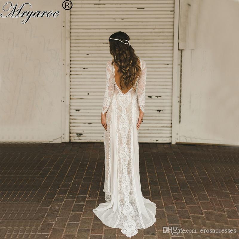 Vintage Boho Lace Wedding Dress