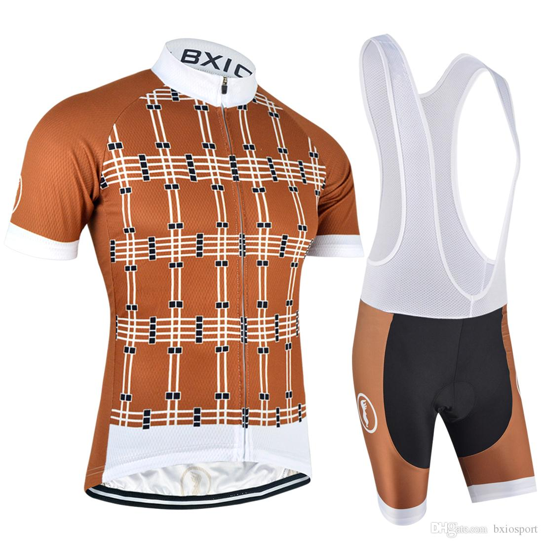 1949af794 2017 BXIO Brand Cycling Jerseys New Arrival Lattice Style Bike ...