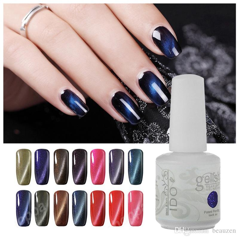 Fashion IDO Gelish Soak-off Cat Eye Magnet Gel Nail Polish Base Top ...