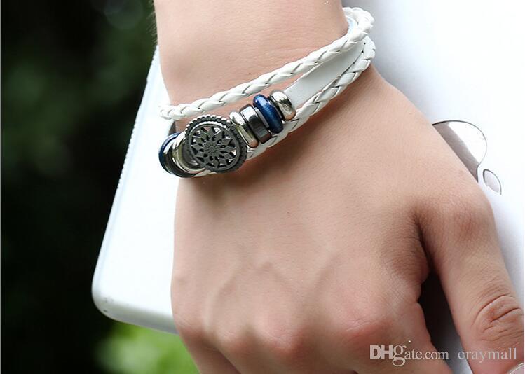 Bracelet en cuir de vachette pour hommes avec un bracelet en cuir tissé vintage, deux couleurs peuvent choisir l'expédition gratuite