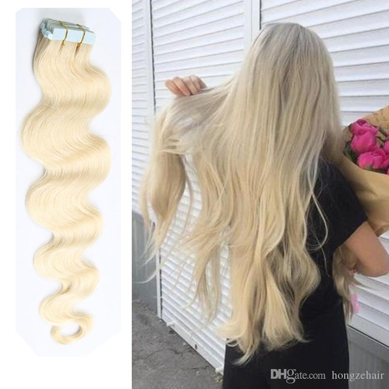 Top Grade Tape In Human Hair Extensions 16 26 Inch Brazilian Virgin