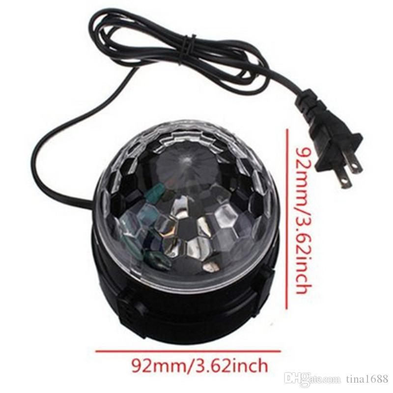 Mini Magic Ball Stage Lights effect Rotating Effect Bar Disco DJ Party Magic Ball Lamp AC110V220V holiday lighting socket US EU