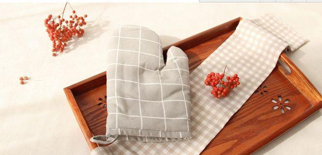 Dicke Küche Backen Cook isolierte gepolsterte Ofen Handschuhe Mitt Wärmedämmung Pad Kochen Werkzeuge Topflappen Microondas Topflappen