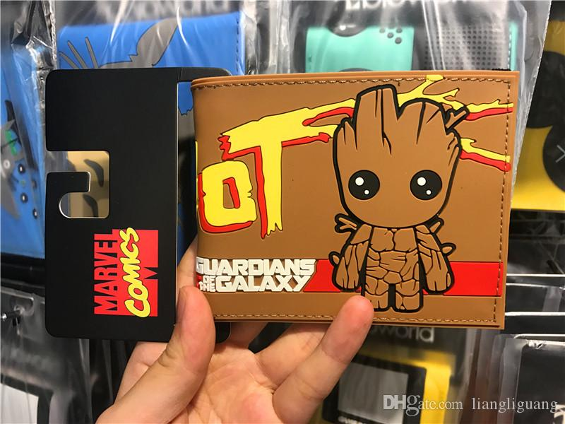 Guardians of the Galaxy Coin Short Wallets Bifold Men Purse New