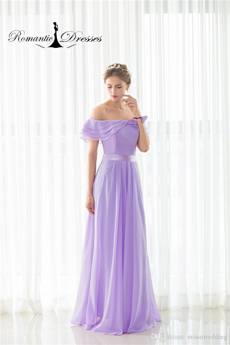 Cheap Bridesmaid Dresses Romantic Dresses Off The Shoulder Ruffles ...