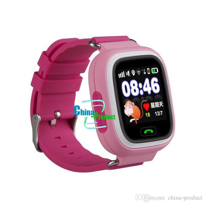 Q90 Inteligente Relógio Criança Localizador de Localização SOS Dispositivo Rastreador Kid Safe Anti Perdido Monitor GPS Faixa de Sono Tela de Toque WIFI Smartwatch