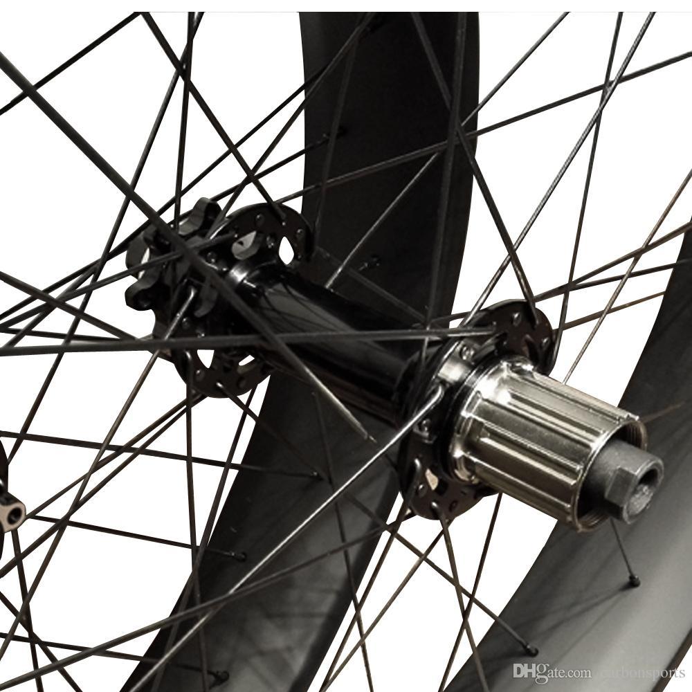 26er Carbon Fiber Bicycle Wheelset width 100mm Christmas Gift Fatbike Wheels Discount Snowbike wheel set bike parts
