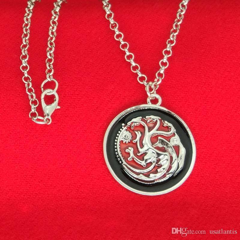 Game Of Thrones Targaryen Dragon Necklaces Targaryen House Badge Pendant Necklaces Fashion Jewelry for Women Fans Gift 160360