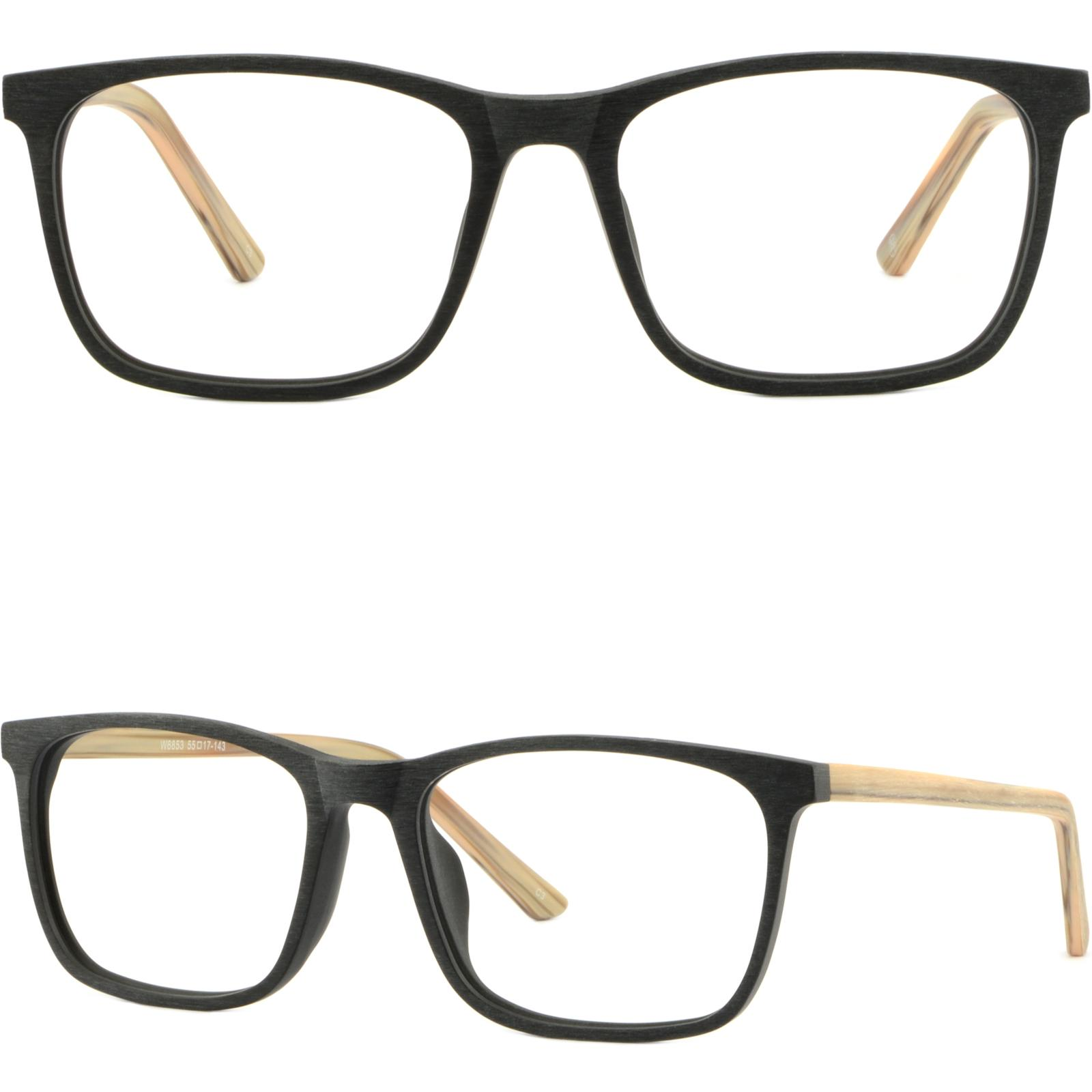 38f1ce00cb5 Square Light Men S Women S Frame Plastic Glasses Eyeglasses Rectangle  Acetate Black Rectangular Wood Imitation Eyeglass Frame Trends Eyeglass  Frames Round ...